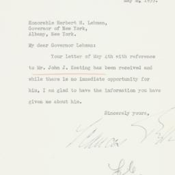 Letter: 1935 May 8