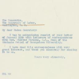 Letter: 1939 February 1