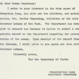 Letter: 1940 September 12
