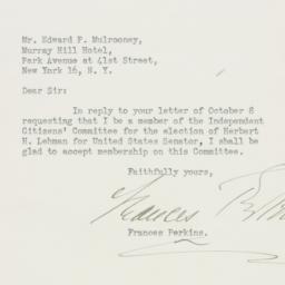 Letter: 1946 October 12
