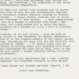 Letter: 1961 November 11