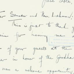 Letter : 1951 June 20