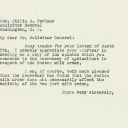 Letter : 1952 March 12