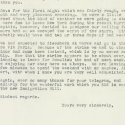 Letter : 1953 August 22