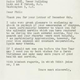 Letter : 1954 December 10