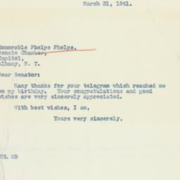 Letter: 1941 March 31