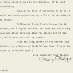 Letter: 1949 December 28