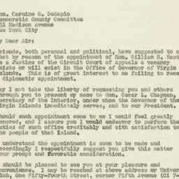 Letter : 1949 December 27