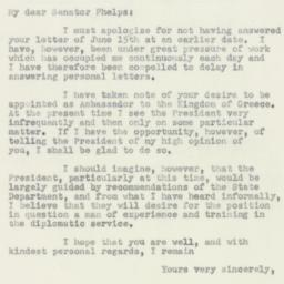 Letter : 1950 July 6