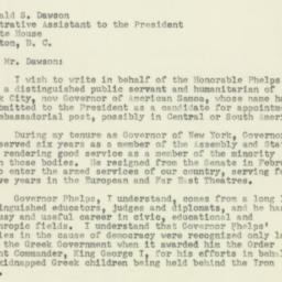 Letter: 1952 May 20