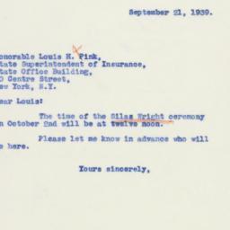 Letter : 1939 September 21