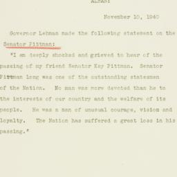 Press release : 1940 Novemb...