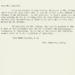 Letter : 1934 December 13