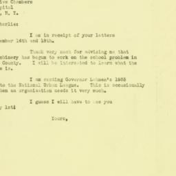 Letter : 1934 December 19