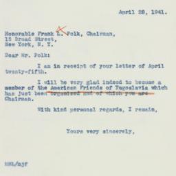 Letter : 1941 April 28