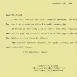 Letter : 1942 December 19