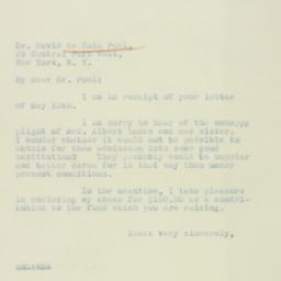 Letter : 1933 May 23