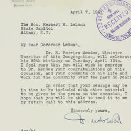Letter : 1937 April 7