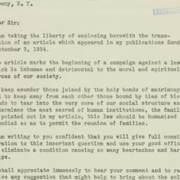Letter : 1934 September 11