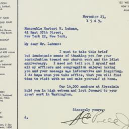 Letter: 1949 November 23