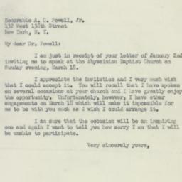 Letter: 1951 January 13