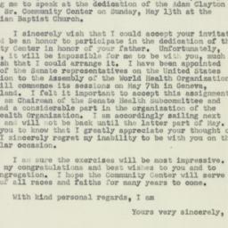Letter: 1951 April 26