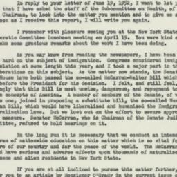 Letter: 1952 June 25