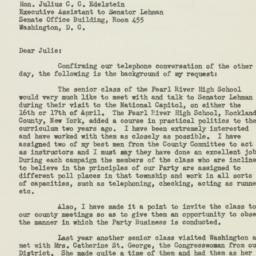 Letter: 1953 March 16