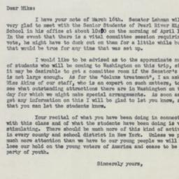 Letter : 1953 March 17