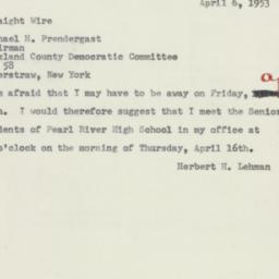 Letter: 1953 April 6