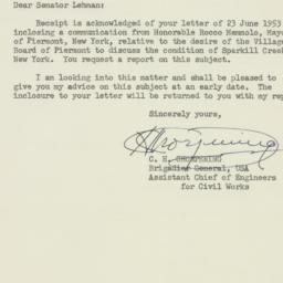 Letter: 1953 June 29