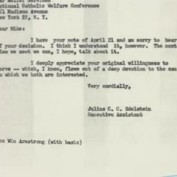 Letter: 1954 April 24