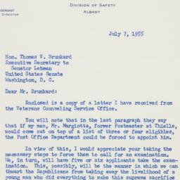 Letter : 1955 July 7