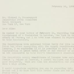 Letter : 1956 February 26