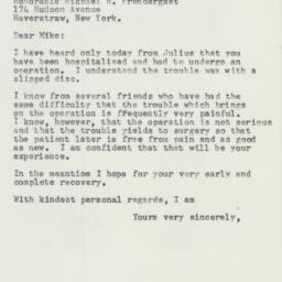 Letter : 1957 December 7