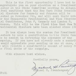 Letter: 1960 October 18