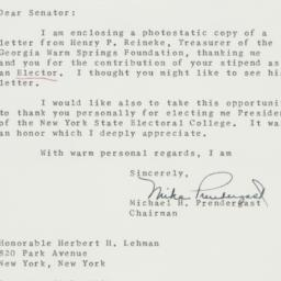 Letter: 1960 December 29