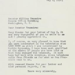 Letter : 1958 May 9