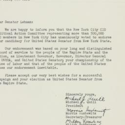 Letter : 1950 October 11