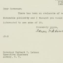 Letter : 1933 February 27