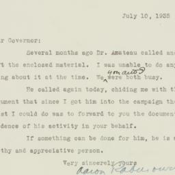 Letter : 1935 July 10