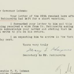 Letter : 1935 July 31