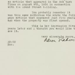 Letter : 1936 August 18