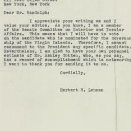 Letter : 1950 February 15