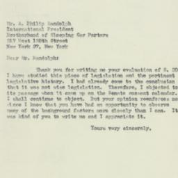Letter : 1950 July 28
