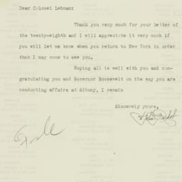 Letter : 1931 August 31