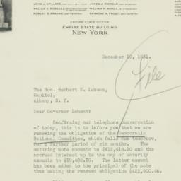 Letter : 1931 December 11