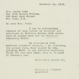 Letter : 1948 November 11