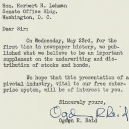 Letter : 1956 May 29