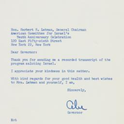 Letter : 1958 May 29
